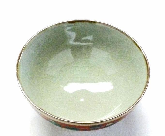 九谷焼通販 おしゃれ ギフト 飯碗 ご飯茶碗 ちゃわん 大 木米 唐子 ハート 裏絵