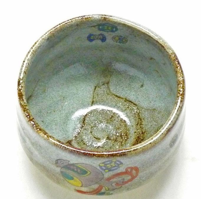 九谷焼【抹茶碗】宝尽くし 中絵