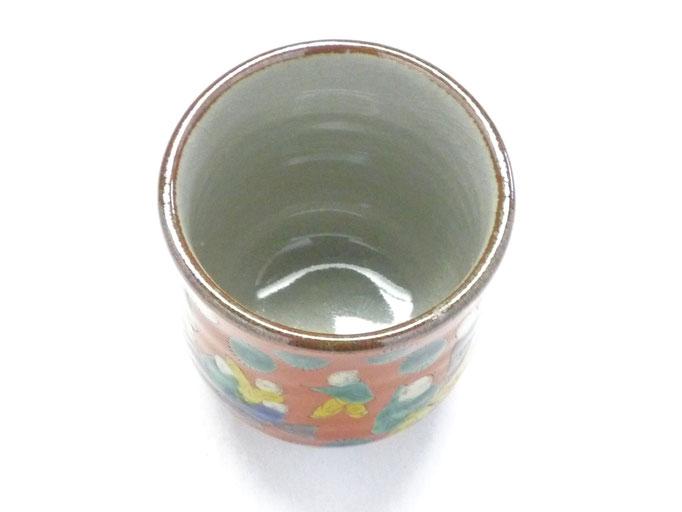 九谷焼【三つ足湯呑】木米写し
