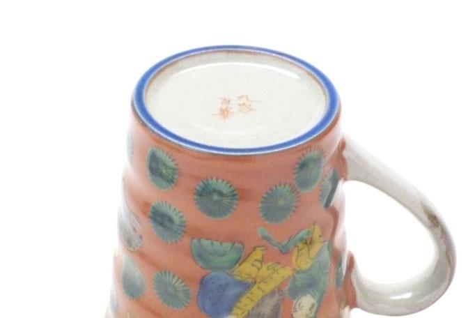 九谷焼通販 おしゃれなマグカップ マグ 木米写し 高台の図