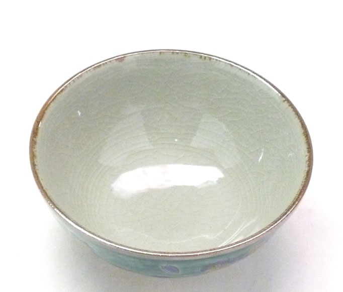 九谷焼通販 おしゃれな飯碗 ご飯茶碗  大 桜 裏絵 中の図