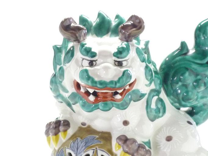 九谷焼 白唐獅子 10号