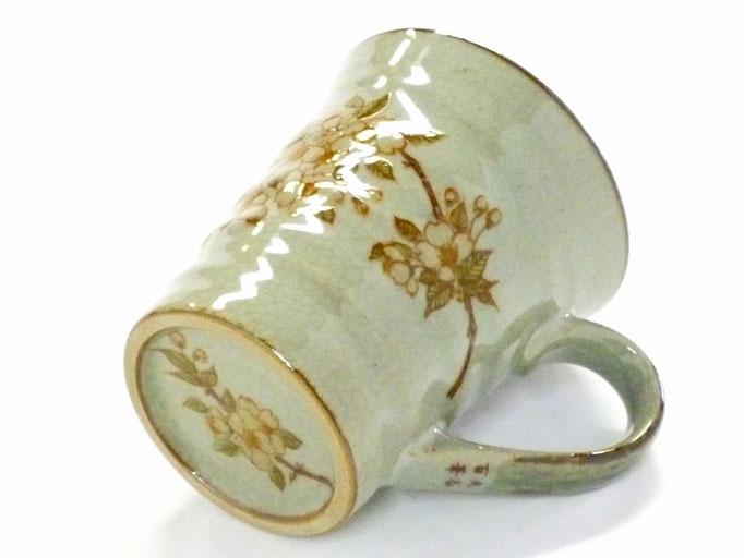 九谷焼【マグカップ】しだれ桜【裏絵】