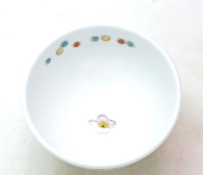 九谷焼通販 おしゃれ ギフト 飯碗 ご飯茶碗 ちゃわん 磁器 ソメイヨシノ 桜 中絵