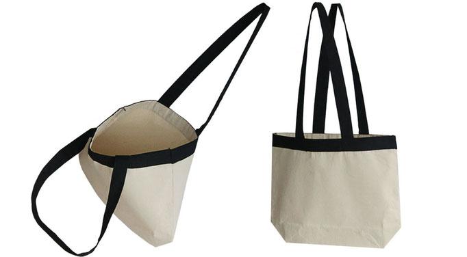 hochwertige Taschen aus Canvas mit schwarzem Griff