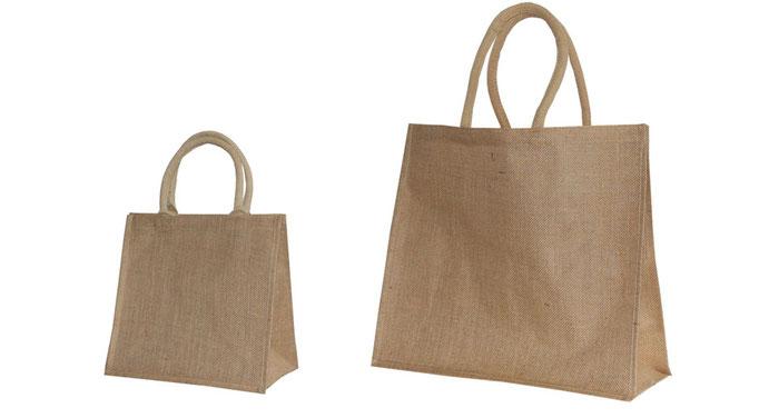 Taschen aus Jute mit dicker Kordel sehr stabil und Reißfest