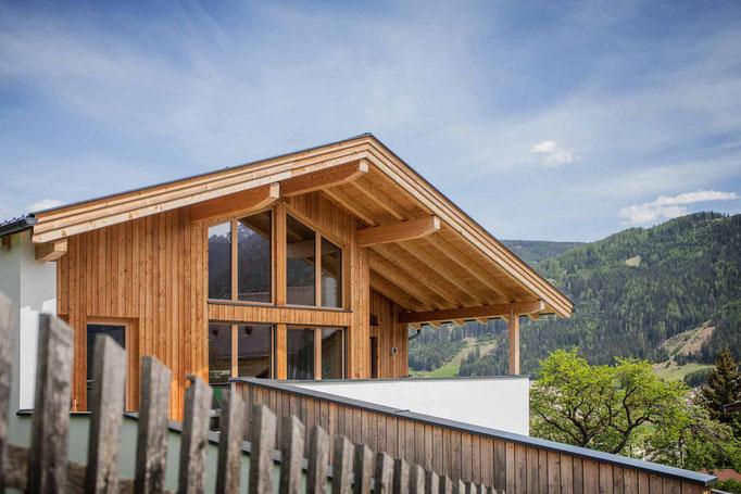 Dachstuhl, Fassade Telfes