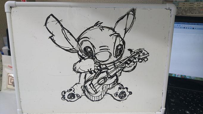 娘が塾で描きました。