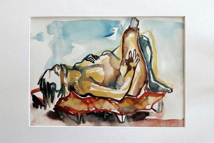 Aquarell von Maya Franzen-Westermayer Künstlerin, Formenbau, Kunstgießerin, Kursleiterin