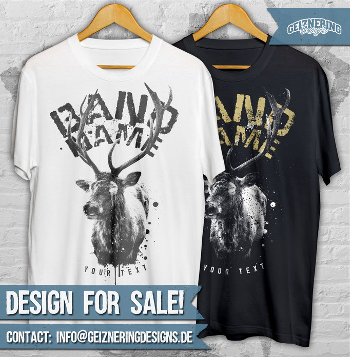 """DESIGN """"DEER"""" FOR SALE!!! ❤ Text and color can be changed. If you're interested send me DM or E-mail: info@geizneringdesigns.de"""