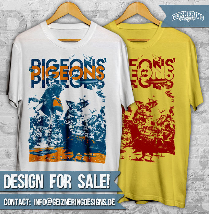 "DESIGN ""PIGEONS"" FOR SALE!!! ❤ Text and color can be changed. If you're interested send me DM or E-mail: info@geizneringdesigns.de"