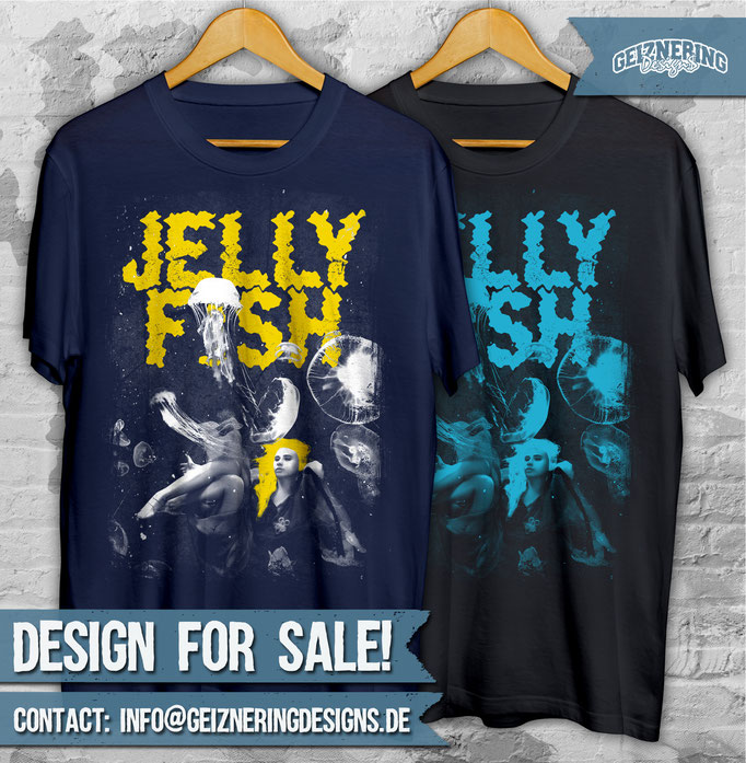 """DESIGN """"JELLYFISH"""" FOR SALE!!! ❤ Text and color can be changed. If you're interested send me DM or E-mail: info@geizneringdesigns.d"""