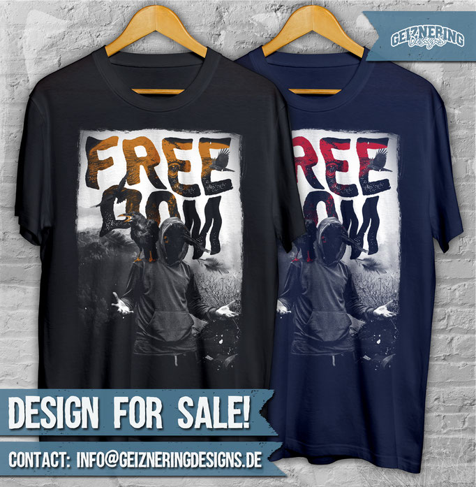 """DESIGN """"FREEDOM!!! ❤ Text and color can be changed. If you're interested send me DM or E-mail: info@geizneringdesigns.de :)"""