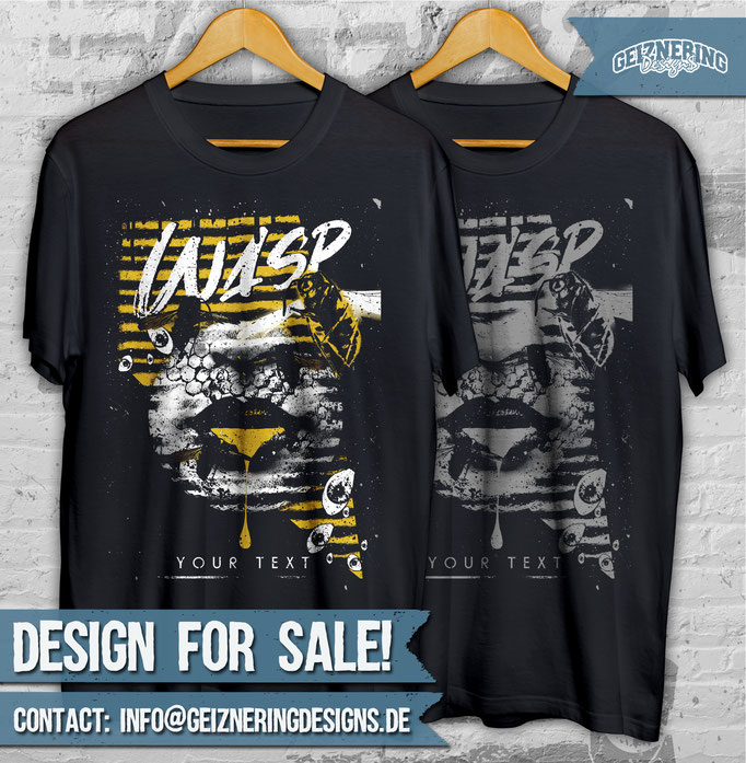 """DESIGN """"WASP"""" FOR SALE!!! ❤ Text and color can be changed. If you're interested send me DM or E-mail: info@geizneringdesigns.de"""