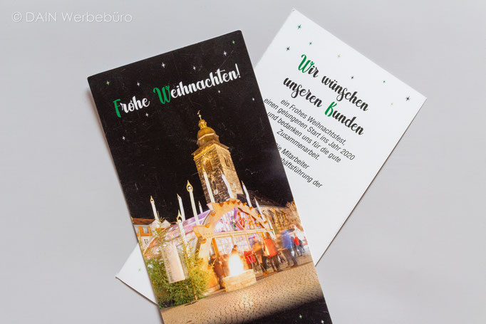 Weihnachtskarten - DAINe Werbeagentur Gotha und Eisenach