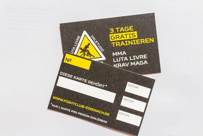 Probetraining Karten - DAINe Werbeagentur Gotha und Eisenach