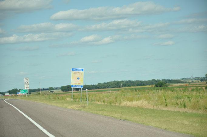 Confine Texas - Oklahoma