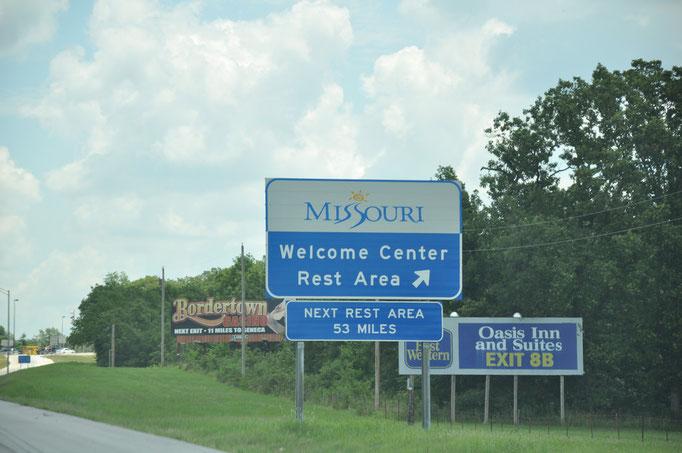Confine Oklahoma - Missouri
