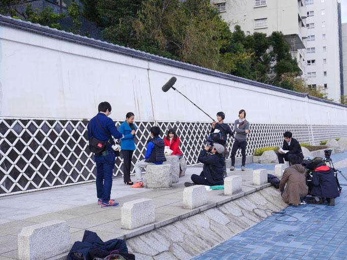 何のロケでしょうか? 撮影などをよく見かけるのも、隅田川ならではかもしれません。