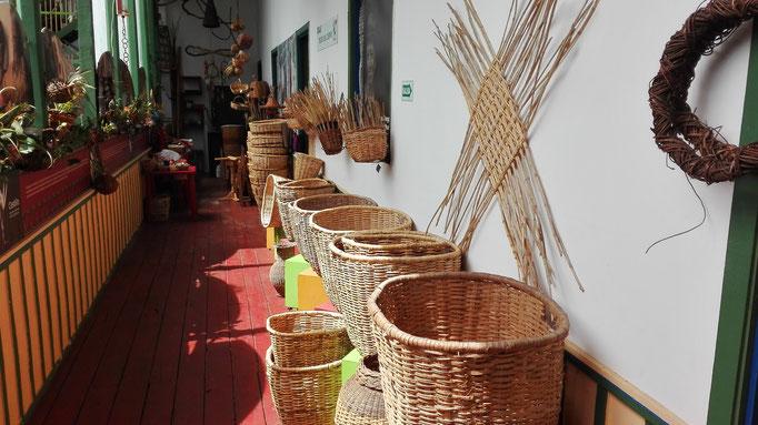 Kultur Körbe Flechten Kolumbien Reisen