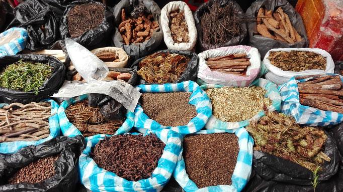 Heilkräuter Kolumbien indigener Markt Kultur