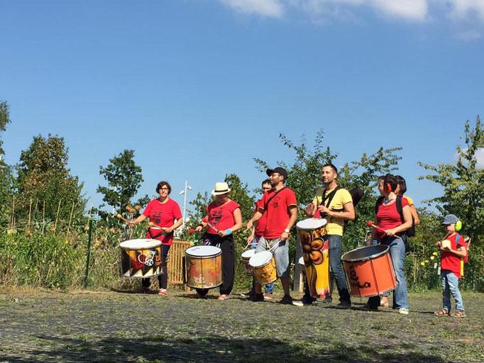 Batucada Zé Samba au Grand Parc de Saint-Ouen
