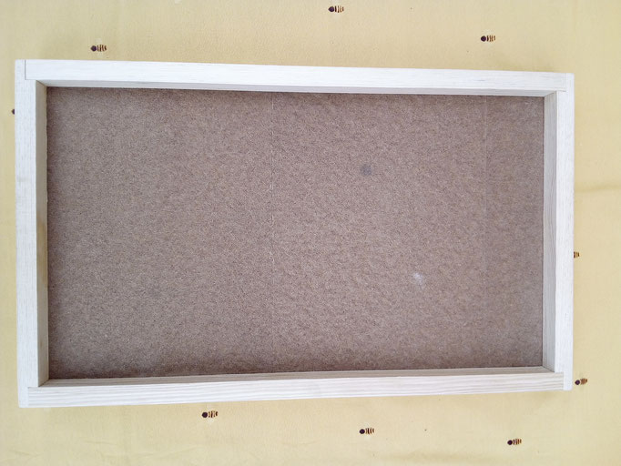 Außendeckel von unten - eingebaute Dämmplatte