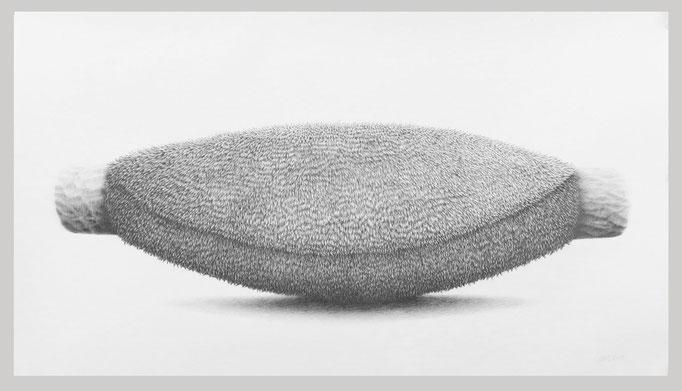 Ohne Titel, 2018. Bleistift auf Papier. 90 x 150 cm.