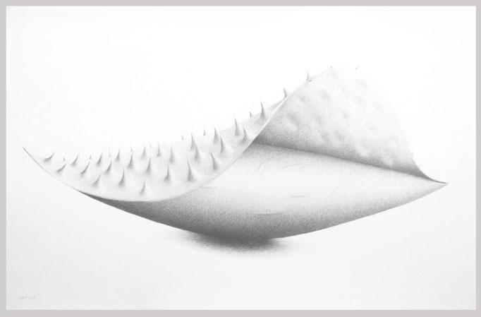 Ohne Titel, 2019.  Bleistift auf Papier, 83,5 x 130 cm.