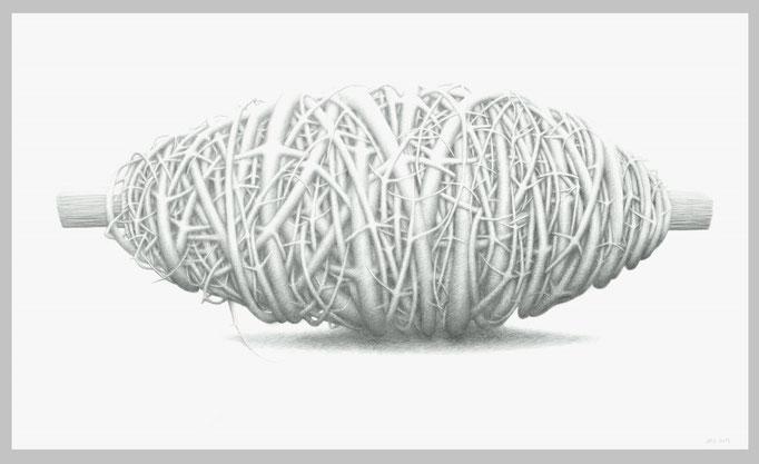 Spindel, 2013. Bleistift auf Papier, 90 x 150 cm