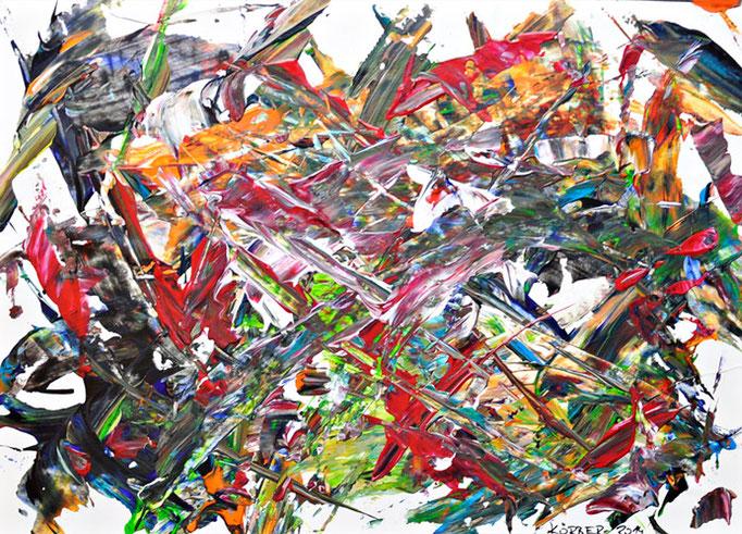 Bild 25 - Acryl  auf Papier und Alu-Dibond in Objektrahmen, 40 x 50 cm, © Uli Körber | KOERBERsART | Schefflenz
