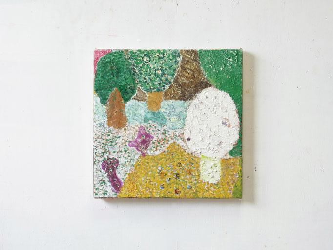 彷徨う,27.3 x 27.3 cm,oil on canvas