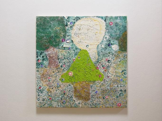 彷徨う,53 x 53 cm,oil on canvas