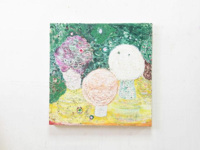 彷徨う,41 x 41 cm,oil on canvas