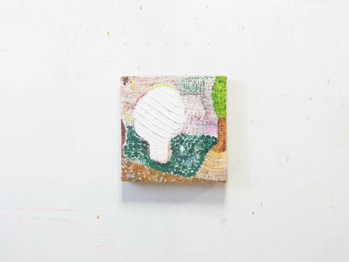 彷徨う,18 x 18 cm,oil on canvas