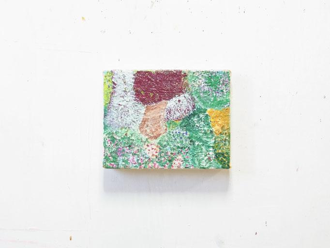 彷徨う,14 x 18 cm,oil on canvas