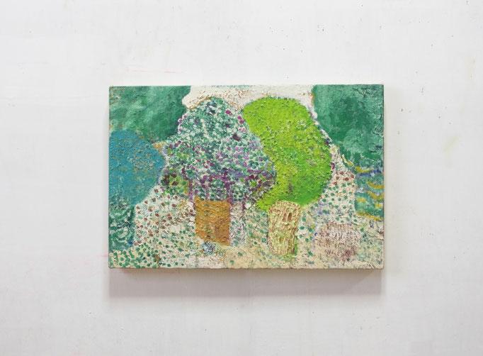 彷徨う,27.3 x 41 cm,oil on canvas