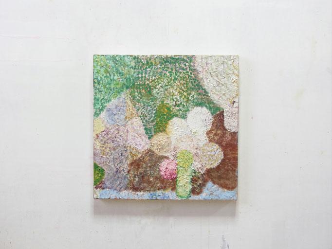 彷徨う,33.3 x 33.3 cm,oil on canvas
