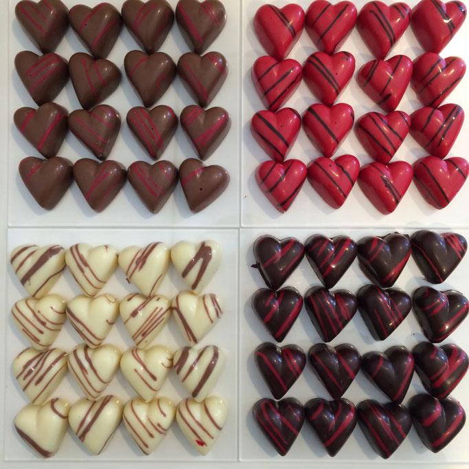 Karamel - Framboos - Vanille - Praline
