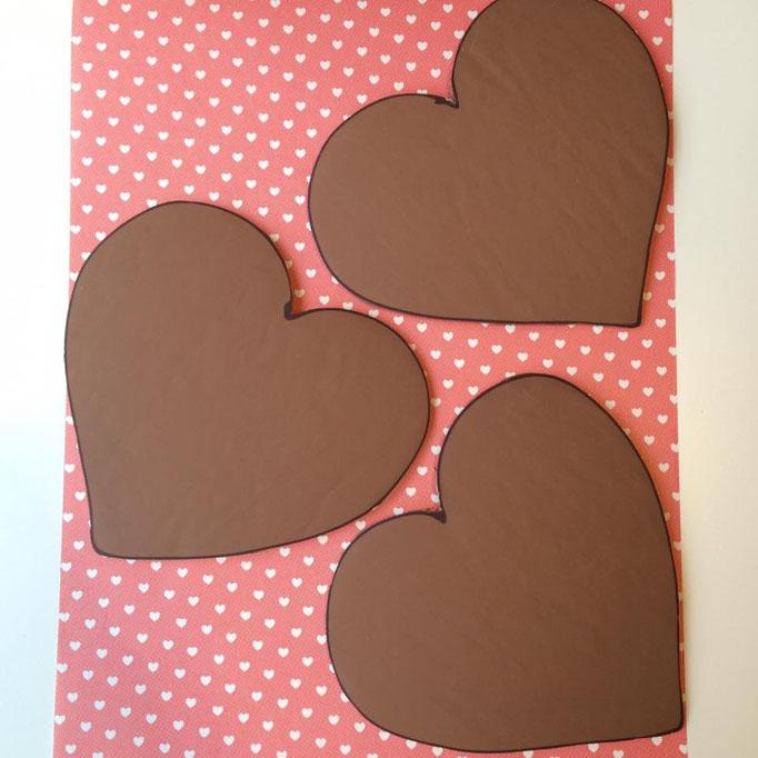 Chocolade hart met persoonlijke tekst