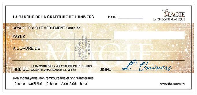 Le chèque d'abondance