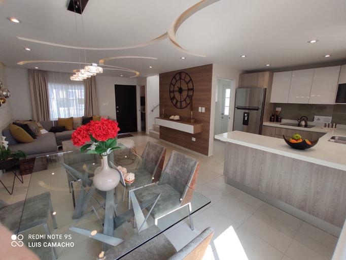 Sala y comedor casa modelo veneto arezzo residencial dominio cumbres
