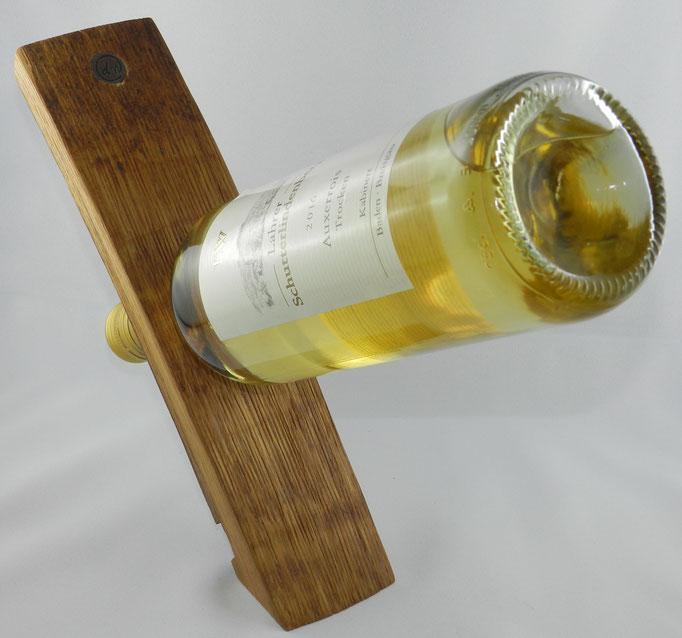 Sonstiges 2: Flaschenhalter freistehend, aus alter Fassdaube