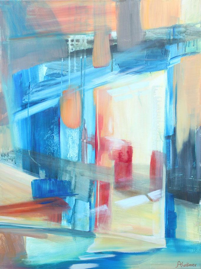 Astrid Krömer, Acryl auf Leinwand, Türen 1, 2019, 60x80 cm, www.astrid-kroemer-malerei.de