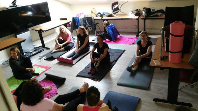 Cours de Pilates à Bordeaux en entreprise