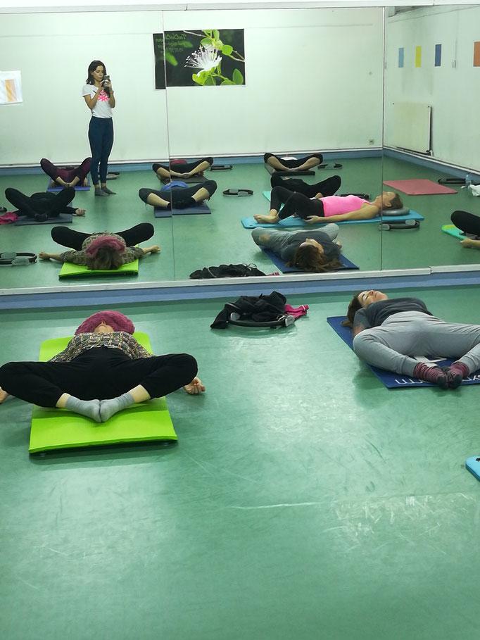 Cours de Pilates en entreprise