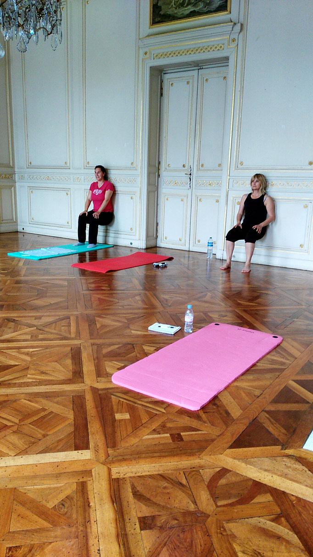Gainage en cours de Pilates