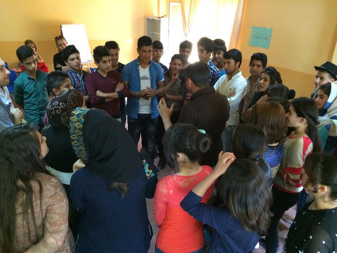 jeux éducatifs, Chamchamal, Irak