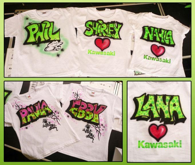Airbrush-T-Shirts Kawasaki