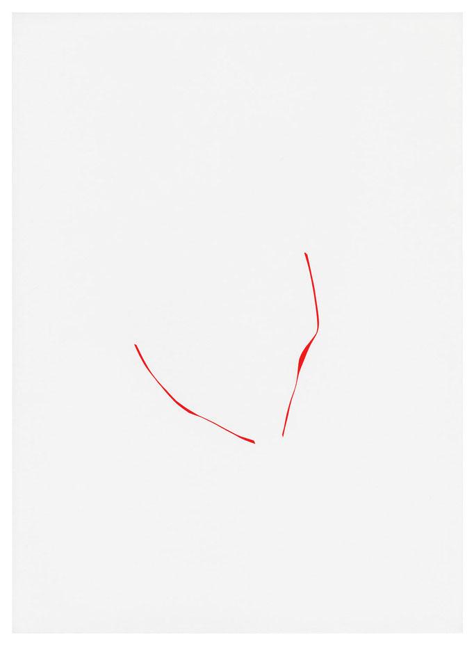PZ 10-2018, Farbfolie auf Papier, 31,5x23cm
